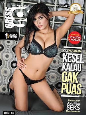 Majalah Gress Magazine Issue Edisi 55 - Oktober 2017 Cover Cici Nugraha [ Kesel Kalau Gak Puas ! ]