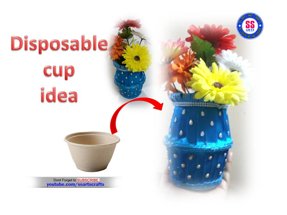 Disposable Cups Flower Vase