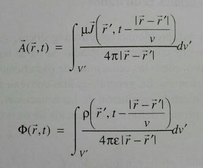 Expresiones generales para los potenciales vectorial y escalar