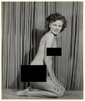 Betty White posing nude 1943
