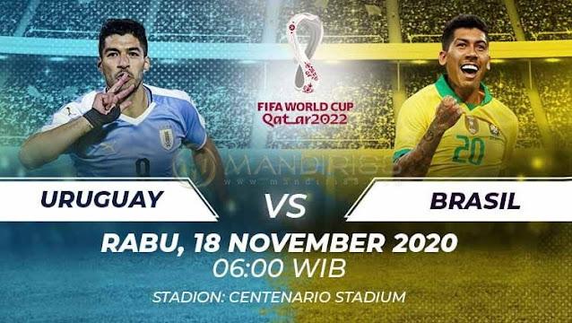 Prediksi Uruguay Vs Brasil, Rabu 18 November 2020 Pukul 06.00 WIB @ Mola TV