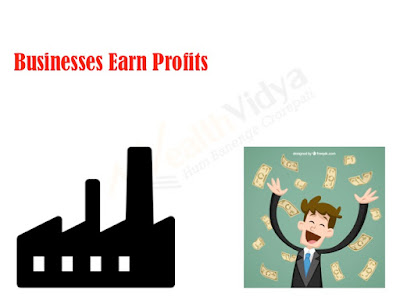 A business man celebrates profits earned from the industry
