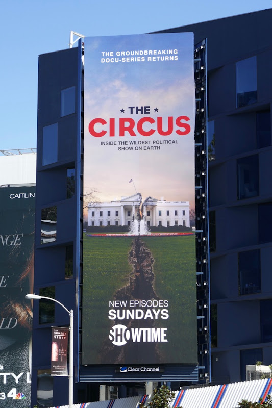 Circus Wildest Political Show on Earth billboard