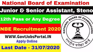 National Board of Examination recruitment 2020