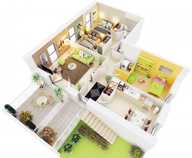 17 Inspirasi Denah Rumah Minimalis 3 Kamar Tidur Rumah Dijual Di Jogja