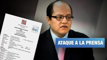 Candidato al Congreso de Partido Nacionalista hostiga y denuncia a periodistas de Wayka