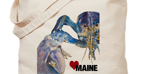 Blue Lobster Love Maine Tote