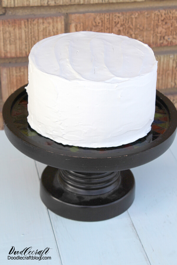 If using it for food service is fine, but don't put the food directly on the resin, use a cardboard round or parchment under the cake. Perfect for serving cupcakes!