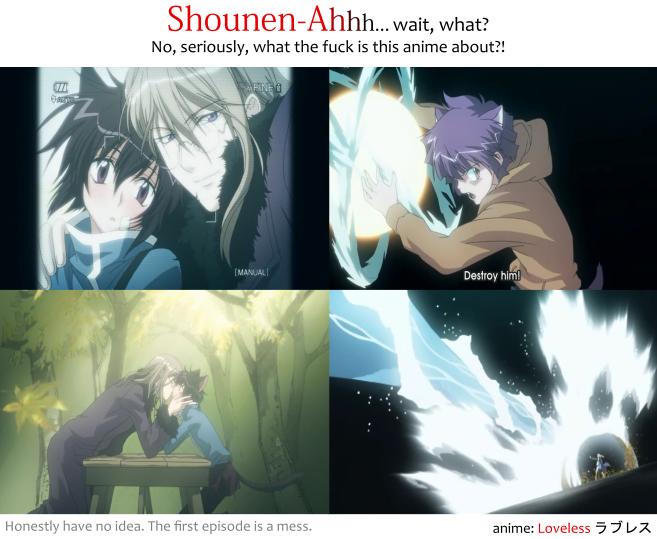 Loveless Shounen-Ai anime first episode and its non Shounen-Ai parts