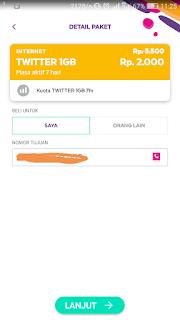 Paket Twitter Axis Murah 1GB Hanya 2000 Rupiah