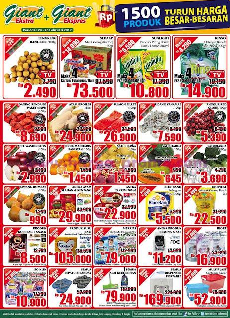 Promo GIANT Ekspres dan Ekstra Akhir Pekan Weekend Periode 24 - 26 Februari 2017