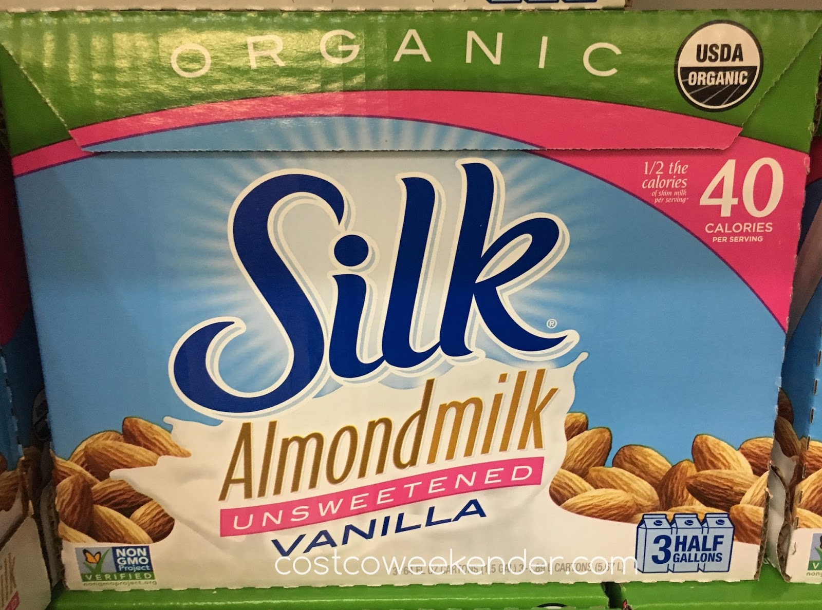 Switch to a healthier alternative with Silk Organic Unsweetened Almond Milk