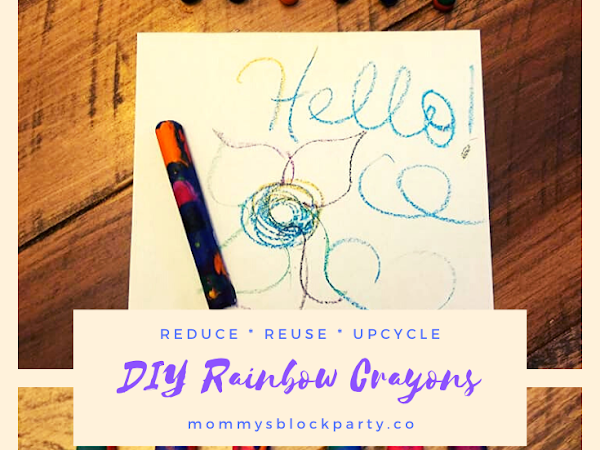 Reduce, Reuse, Upcycle: DIY Rainbow Crayons