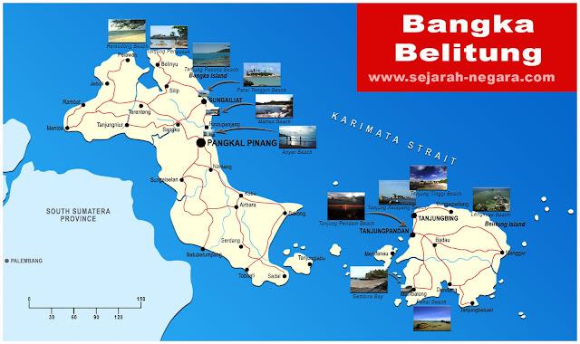 image: Bangka Belitung Map High Resolution