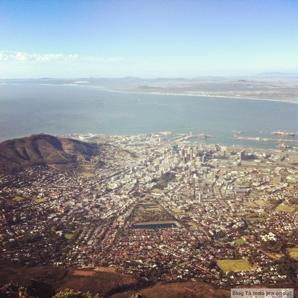 Cidade do Cabo vista da Table Mountain