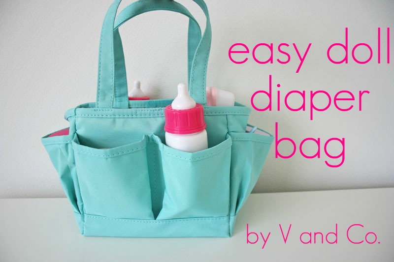 V And Co How To Easy Doll Diaper Bag