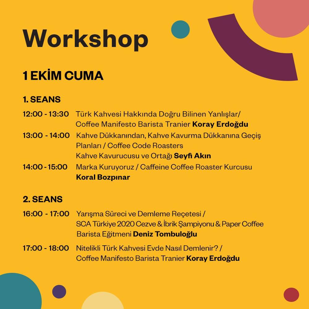 Ankara Coffee Festival Workshoplar