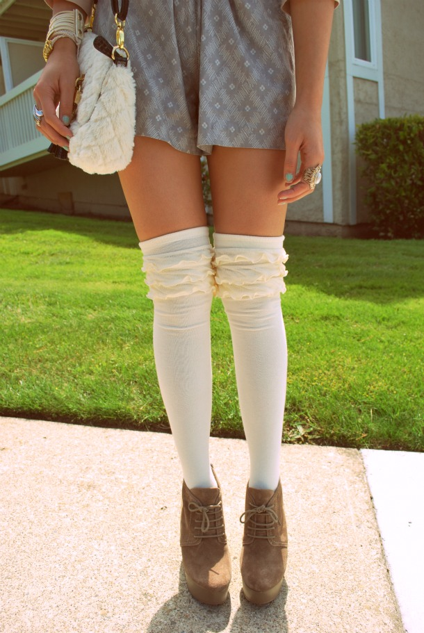 Knee High Lace Up Shoes