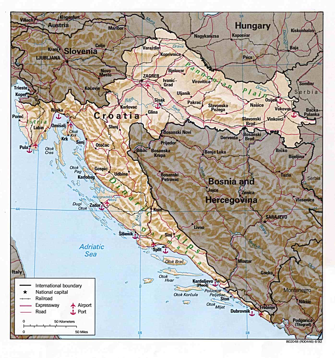 Croácia | Mapas Geográficos da Croácia