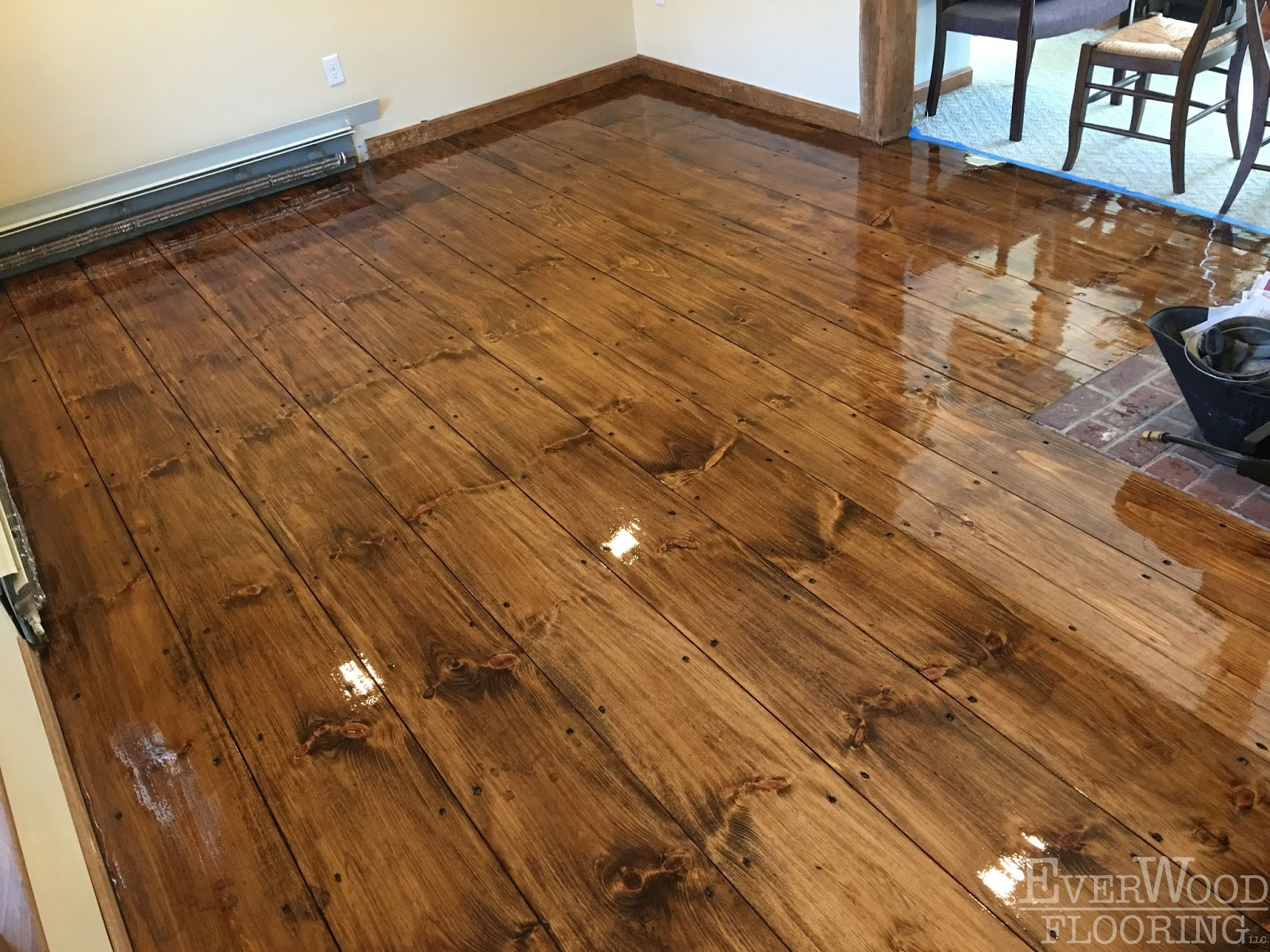EverWood Flooring Project Profiles: Wide-Plank Pine Stain ...