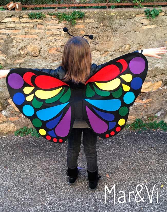 Costume da farfalla fai da te