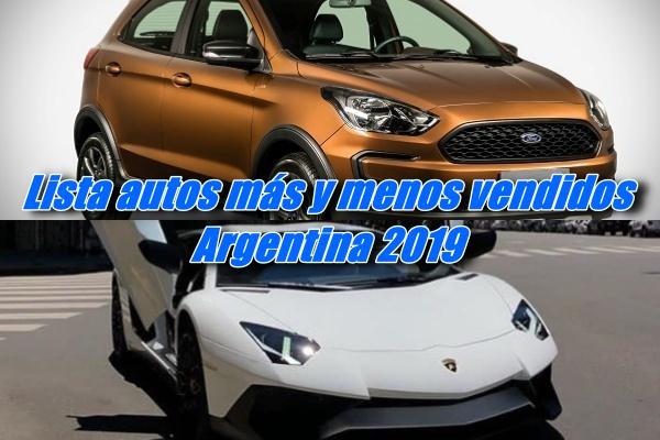 Autos más y menos vendidos en 2019 en Argentina