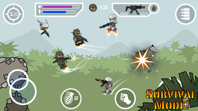 Mini Militia mega Mod Apk Download V4.0.1 Terbaru 2019 (New Fitur Unlimited Nitro & Ammo)