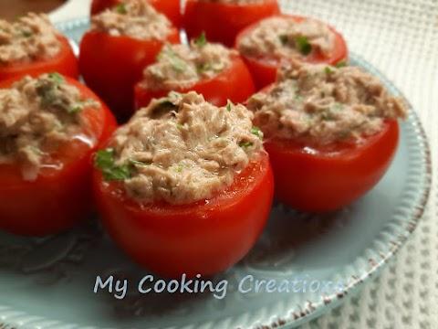 Пълнени домати с риба тон * Pomodori ripieni di tonno