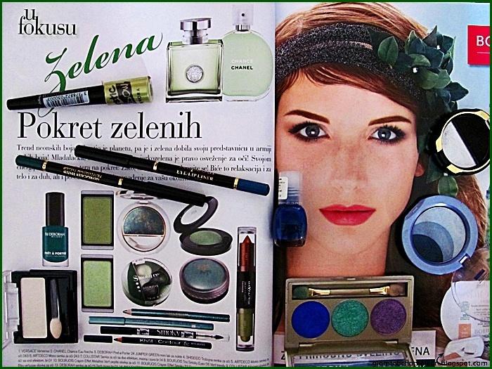 green makeup trends