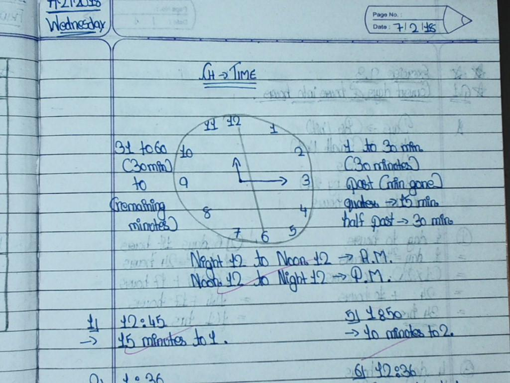 Maths Notebook And Textbook Work. | Standard 4