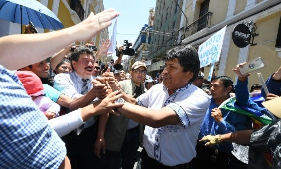 Evo invita a Argentina, Brasil, Colombia y EE.UU. sumarse a auditoría de proceso electoral