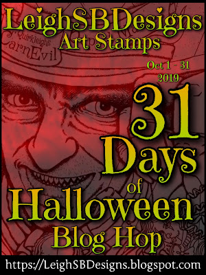 LeighSBDesigns annual 31 Days of Halloween Blog Hop