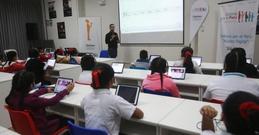 SINFONÍA DIGITAL EN LIMA: Niños usan tecnología para aprender música