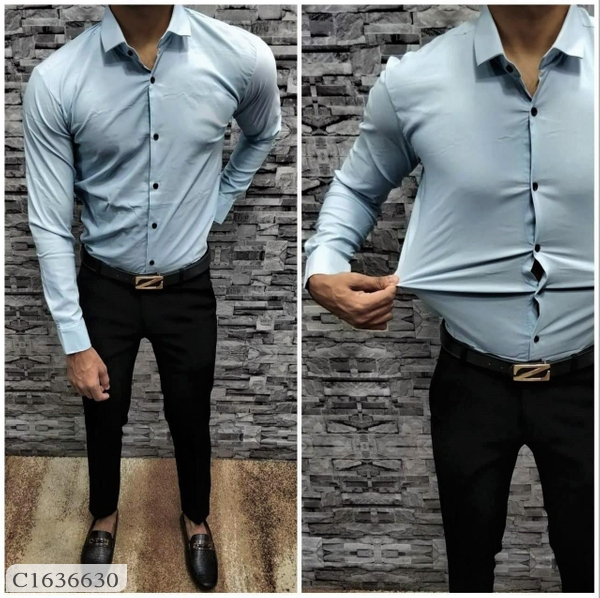 Lycra Stretchable Full Sleeves Shirts For Men Online Shopping | Lycra Shirts For Men Online | Mens Shirts Online Shopping |