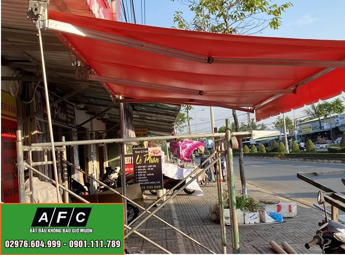 Hình ảnh thi công Mái hiên di động tại Phú Quốc