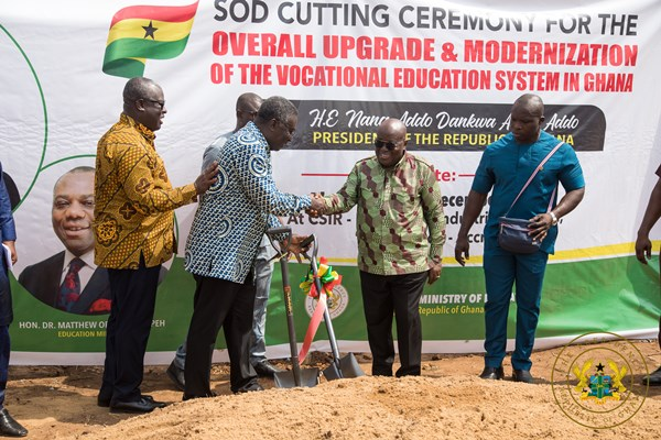 """""""All 34 NVTI's Being Refurbished; 2 Foundries, Machining Shops To Be Built At Csir & Knust"""" – President Akufo-Addo"""