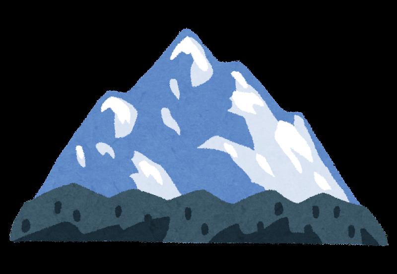 雪山のイラスト かわいいフリー素材集 いらすとや
