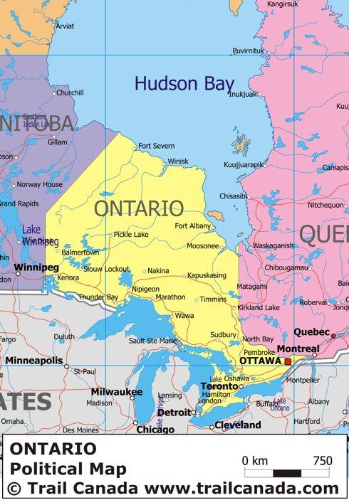 Maps Of Ontario Canada