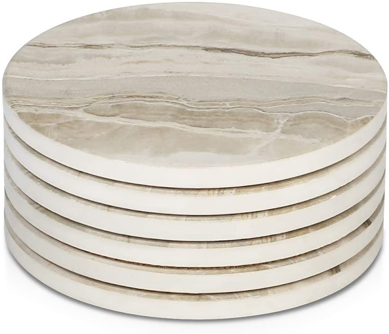 40% off LIFVER Drink Coasters 6 Pieces Ceramic