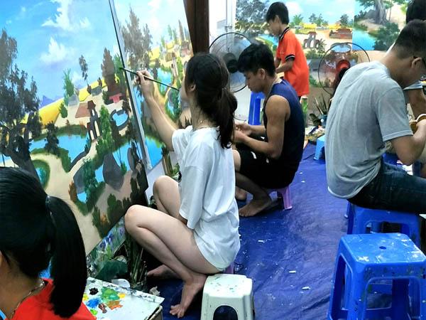 Học vẽ tranh tường 3d
