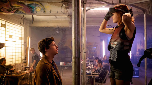 "Tye Sheridan and Olivia Cooke in Steven Spielberg's ""Ready Player One"""
