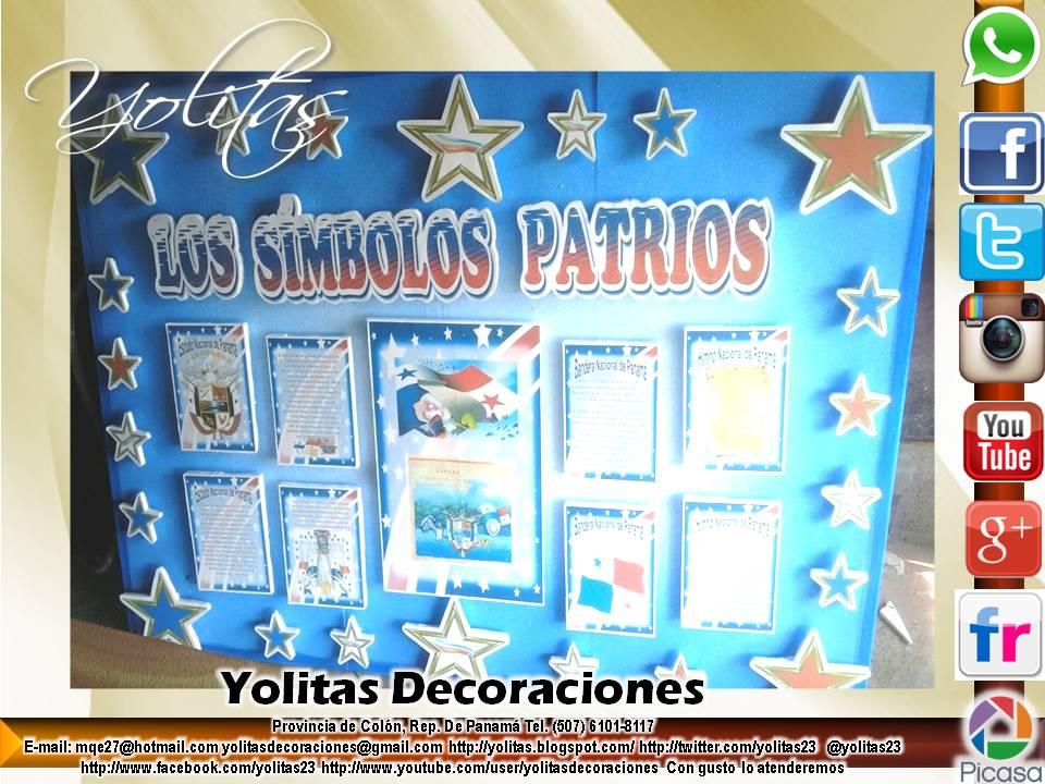 Yolitas decoraciones mural de los simbolos patrios for Diario mural en ingles