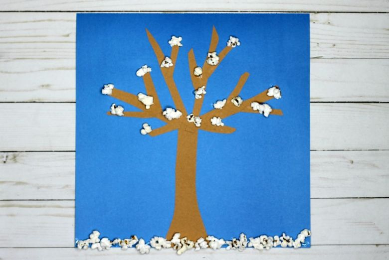 winter tree craft for kids