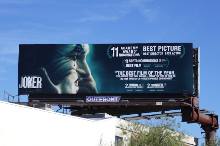 Joker 11 Academy Award nominations billboard