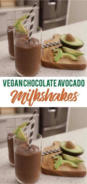"Vegan Chocolate Avocado ""Milkshakes"""