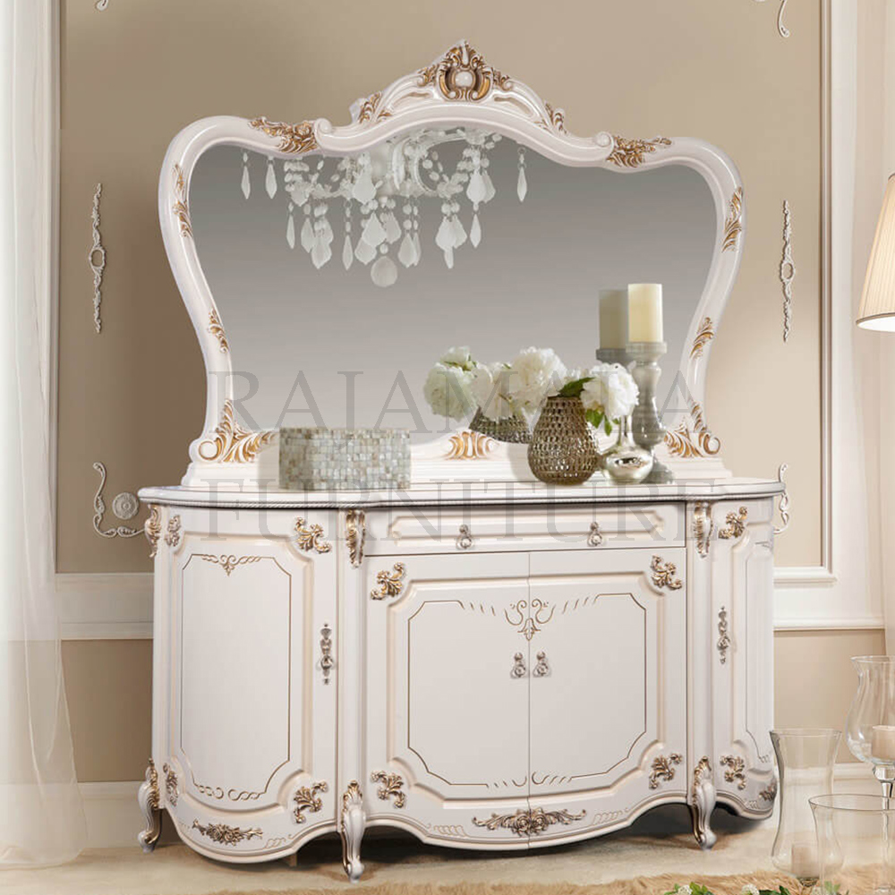 Living Room Interior Meja Consul Mewah Luxury Carving Jepara RM-0014