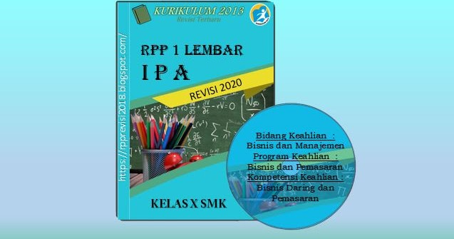 RPP 1 Lembar SMK IPA (Bismen) Kelas X Kurikulum 2013 ...