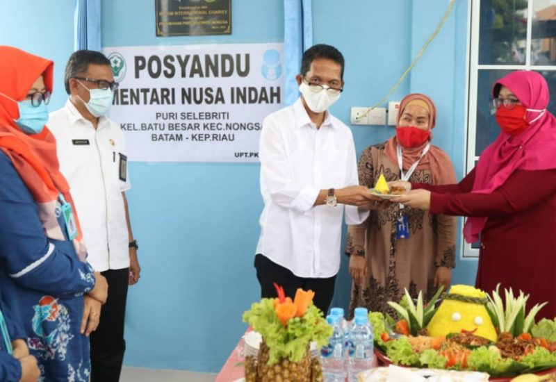 Diresmikan Amsakar Achmad, BIC Bangun Posyandu di Puri Selebriti