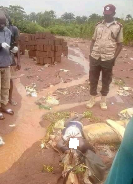 Disturbing Photos: Flood kills 13-year-old Pupil In Edo State