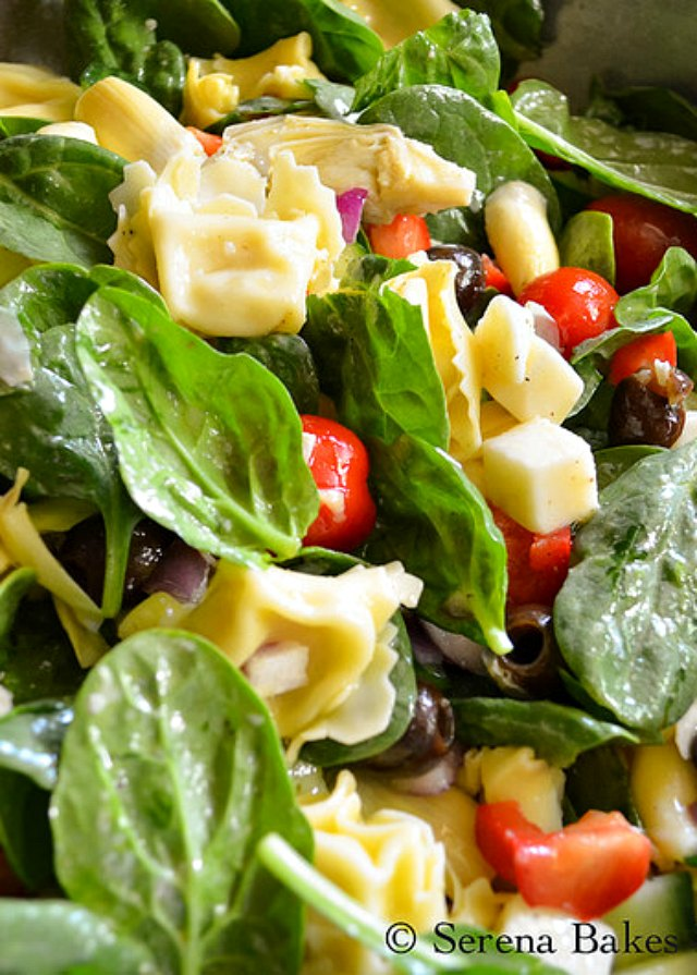 Cold Italian Tortellini Pasta Salad with Italian dressing is a summer time favorite for lunch, dinner or to take to your next bbq! Serena Bakes Simply From Scratch